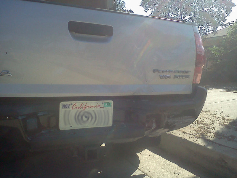 Rear-ended today. Tacoma vs. Lincoln Mark LT-1002121532a.jpg