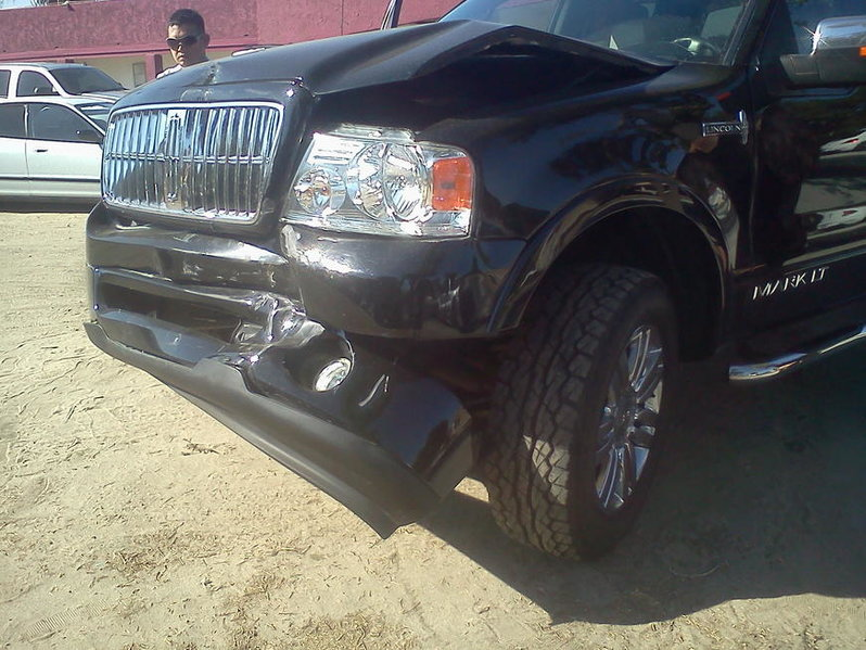 Rear-ended today. Tacoma vs. Lincoln Mark LT-1002121532c.jpg