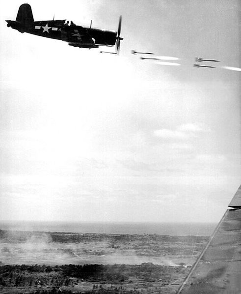 The Pacific and Adjacent Theaters in WWII-492px-corsair_fighter_firing_on_okinawa.jpg