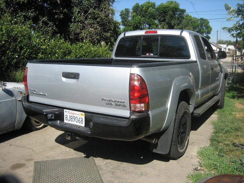 Rear-ended today. Tacoma vs. Lincoln Mark LT-before.jpg