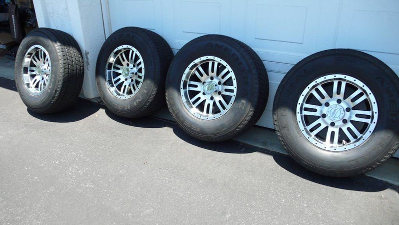 "Set of 16X8.5"" 6 Lug Alloys W. 255/70/16 Tires. Tires 80-85%, Wheels Ex. Cond. 0-photo-2.jpg"