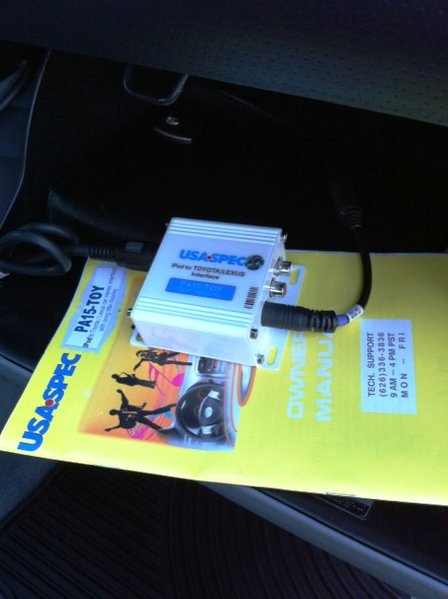 FS:  USA Spec PA15 iPod iPhone Interface, Weathertech for Access Cab-toyspec.jpg