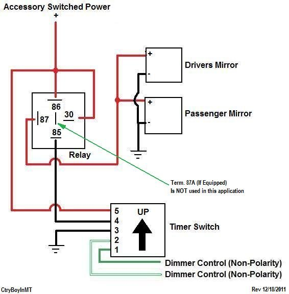 wiring diagram for power mirrors wiring diagramwiring diagram for power mirrors schema wiring diagramoem heated mirrors diy mod tacoma world simple wiring