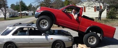 1995 Taco versus 2001 Subaru
