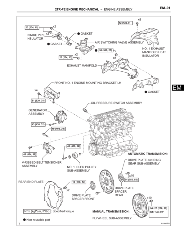 the torque spec guide tacoma world internal assembly components