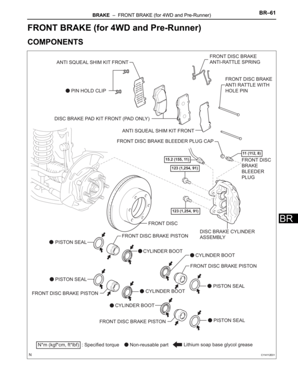 the torque spec. guide | tacoma world caliper of 2000 tacoma parts diagram 2000 silverado parts diagram