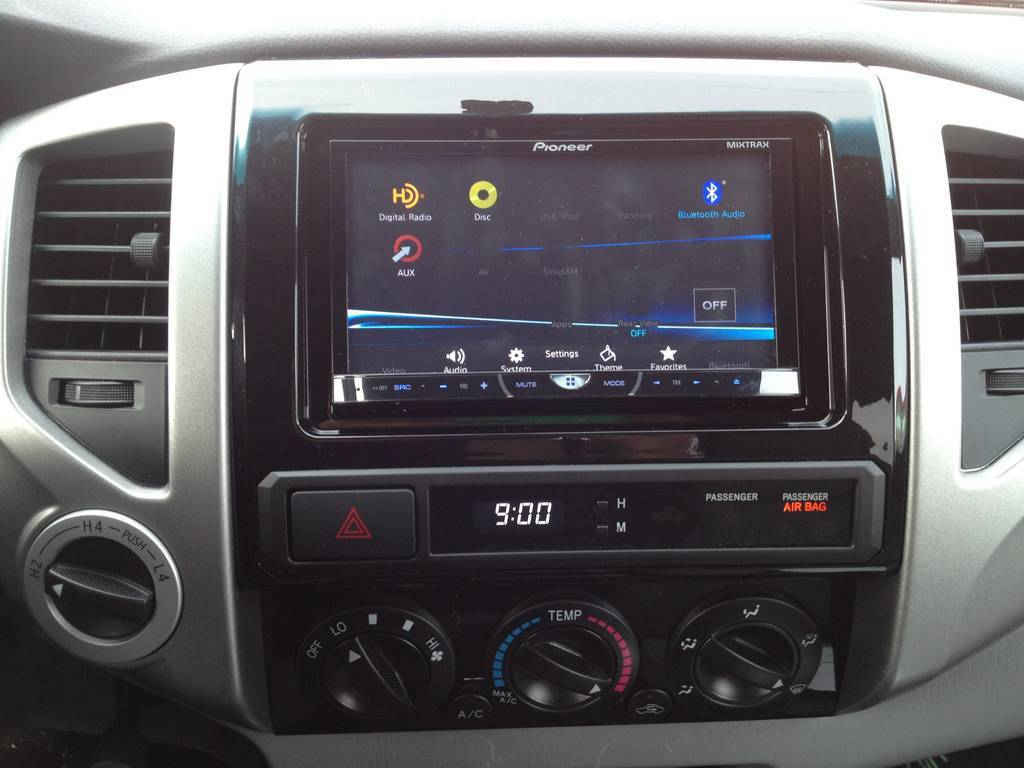 show off those aftermarket stereo systems page 28 tacoma world pioneer avh x5500 just finished the install of the whole system last night it was a huge difference just this unit but add an amp and speakers