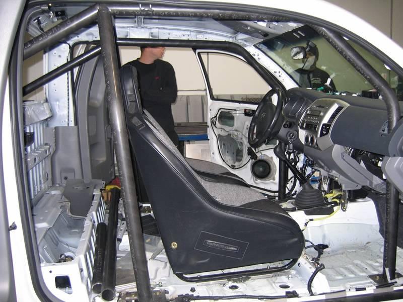 Rollcage progress tacoma world - Interior roll cage for toyota pickup ...