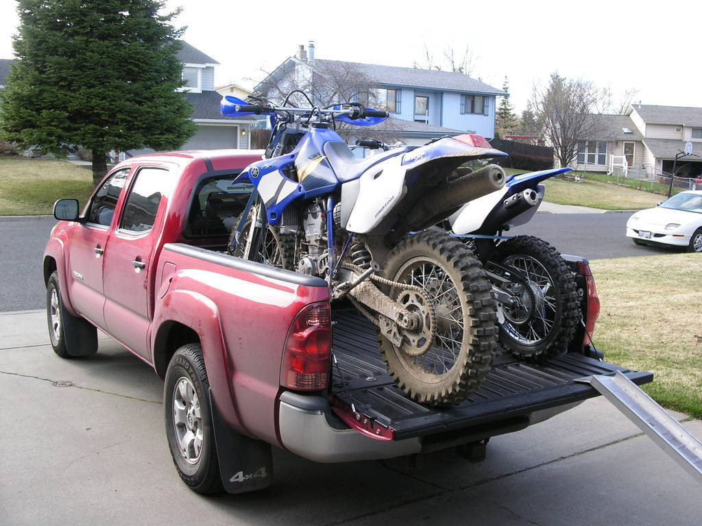 Hauling A Motorcycle In A Short Bed Tacoma World