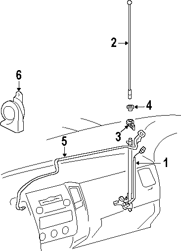 how to replace oem antenna (in fender) tacoma world Fender Stratocaster Schematic Diagram (something that was pointed out to me; the antenna mast is the part above the fender, or part 2 below)