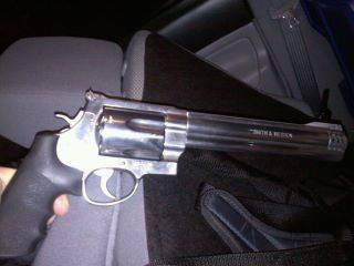 Insured by Smith & Wesson 500 Magnum (.50cal)