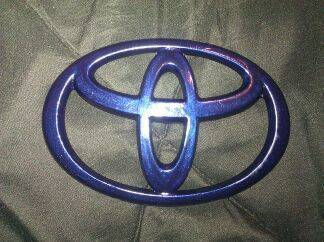 Color matched front emblem