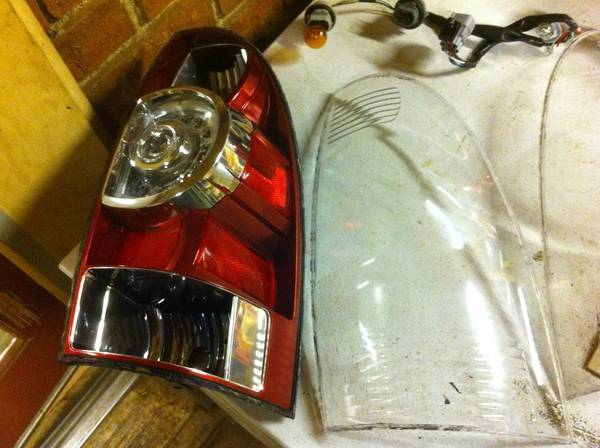 Black Tail light disassembled
