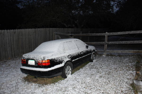 Snow in San Antonio, TX