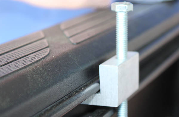 BetterBuilt tool box mounting hardware for rail system