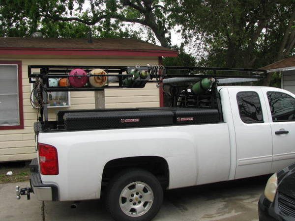 Company truck custom rack