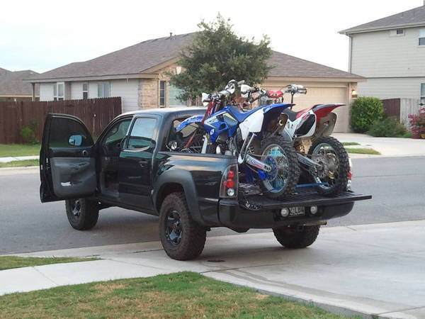 Does A Dirt Bike Fit In The Back Tacoma World
