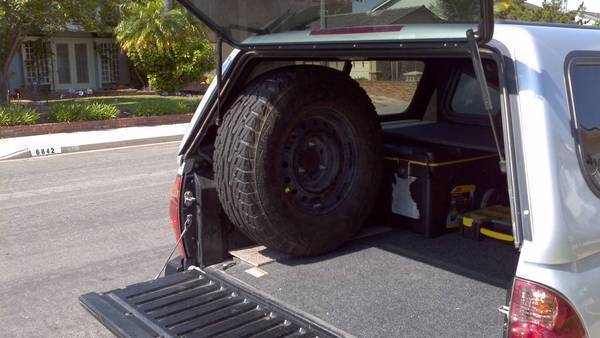 Metal Miller Spare Tire Mount