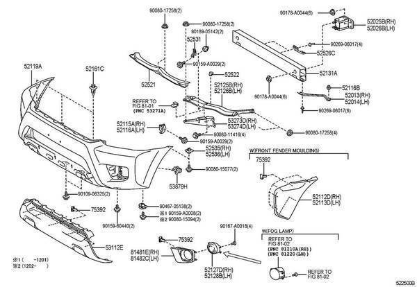 2012 toyota camry fender replacement parts diagram  toyota