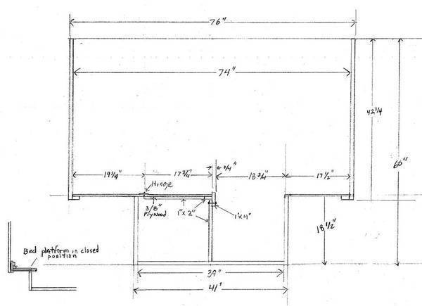 Build your own camper or trailer glen l rv plans page 3 for Cabover house plans