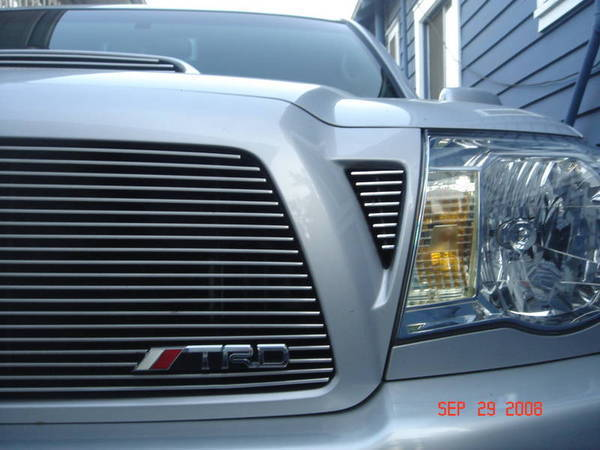 TRD BADGE ON FRONT GRILL