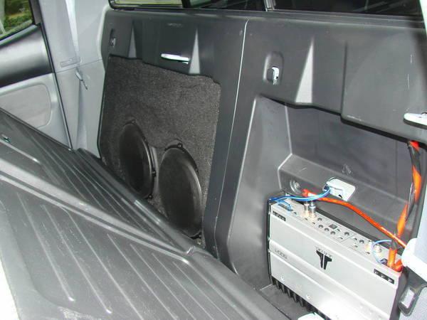 Dsc on Jeep Wrangler Subwoofer Box