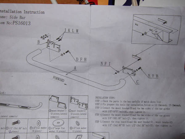 Nerf Bar Instructions