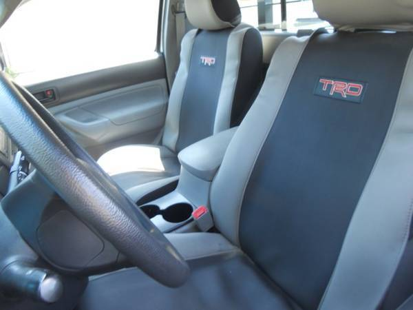 Bucket seats/center console side view