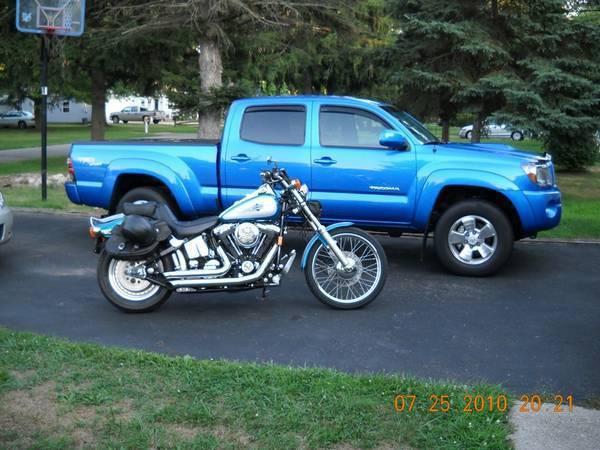95 Harley FXSTC & 2010 Tacoma