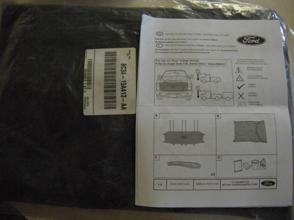 FS: 2008-2010 Factory Ford 6 4L Winter Grill Cover | Tacoma