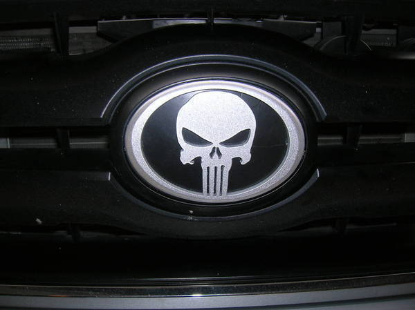 Punisher emblem installed