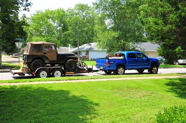 towing the jeep