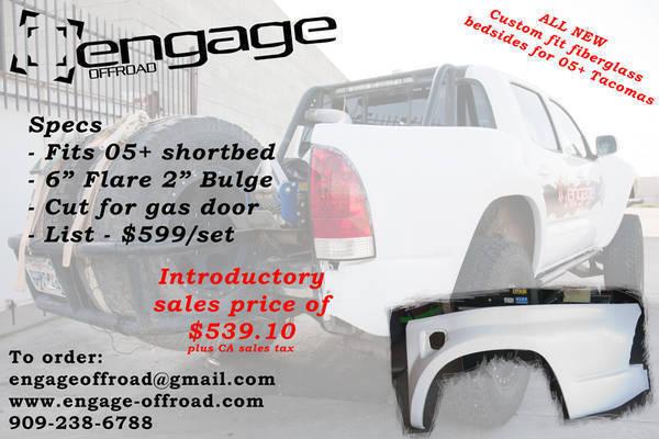 EngageOffRoad_05-13_Toyota_Tacoma_Fiberglass_BedSide_Ad_001a