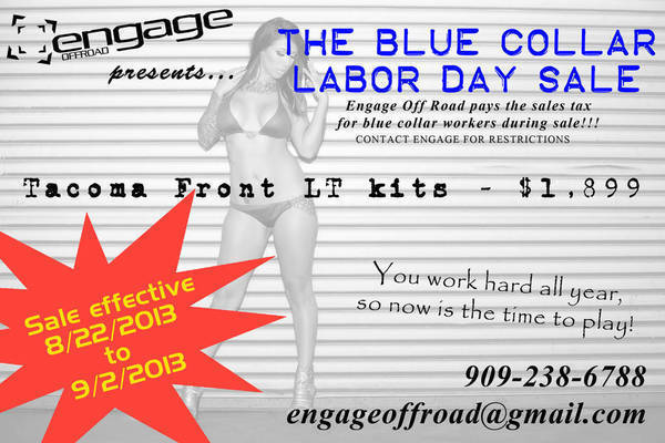 Engage Off Road Labor Day Sale 2013!!!