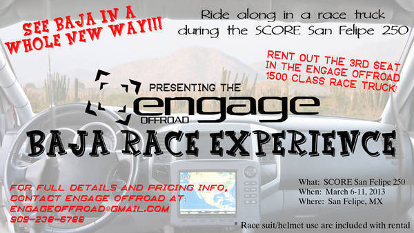 Engage Off Road Baja Racing Adventure