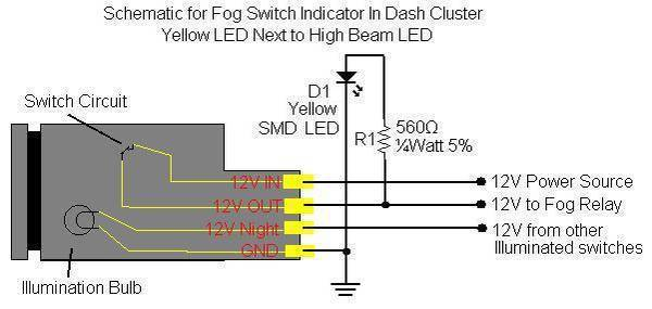 FOG_LED_SCHEMATIC fog light switch wiring tacoma world Toyota Tacoma Trailer Wiring Diagram at bayanpartner.co