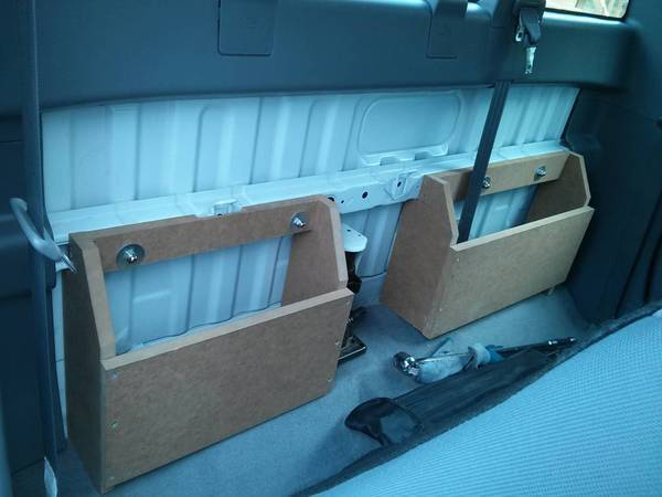 DIY Behind The Seat Storage Bins Regular Cab 2nd