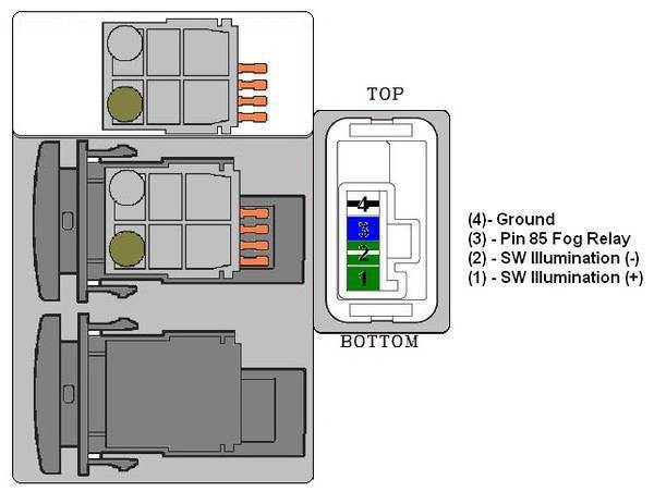 FogSW_pins1 fog light switch wiring tacoma world Toyota Tacoma Trailer Wiring Diagram at bayanpartner.co
