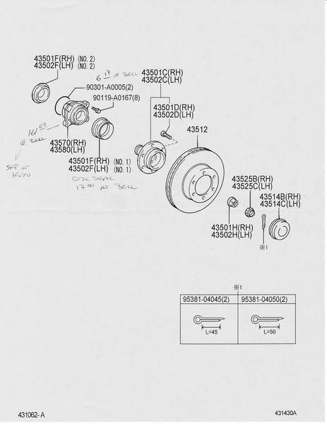 2005+ Front Wheel Bearing Specs