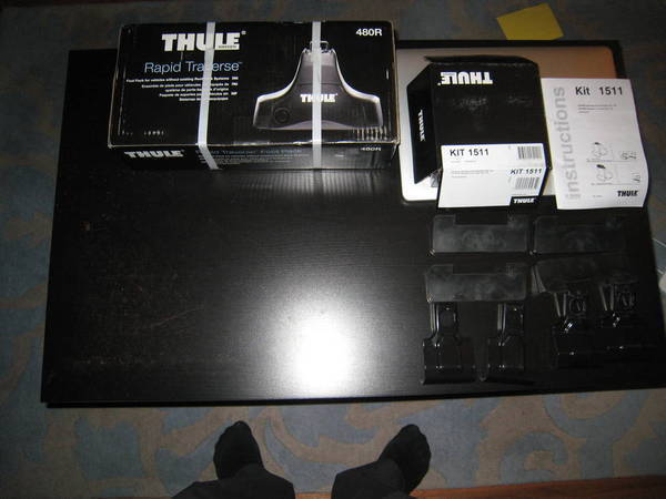Thule 480R Rapid Traverse foot pack and Fit Kit 1511