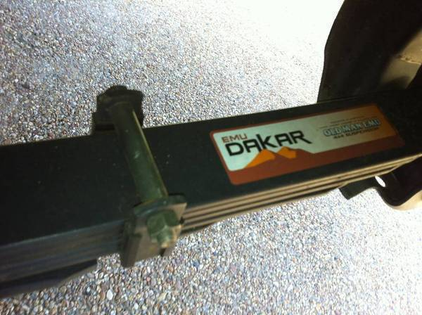 Dakar Rear Leaf Springs!