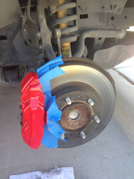 Painted Calipers Red