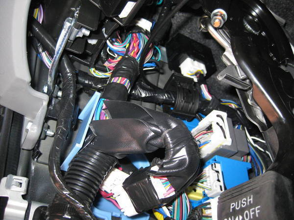 Drivers Side Kick Panel Removed