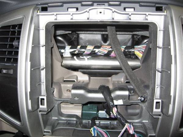 2007 Tacoma Stereo Head Unit Removed