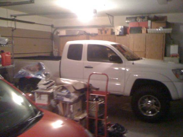 barely fits in the garage