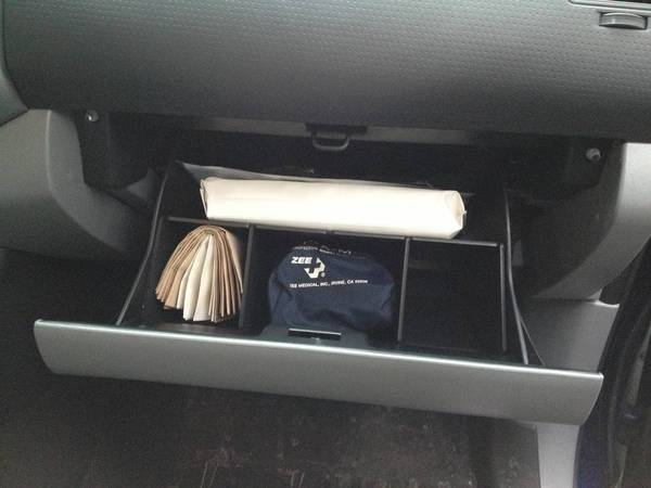 Salex glove box organizer.  AFTER