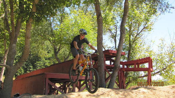 What a wuss! Slaughter Pen Hollow, Bentonville AR...AWESOME PLACE TO RIDE!