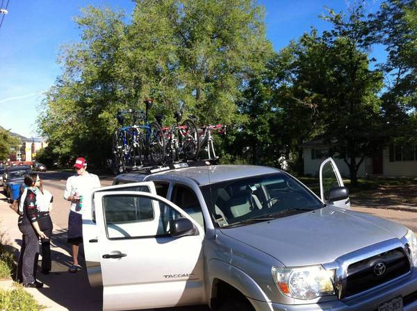 5 bikes, 5 cyclists