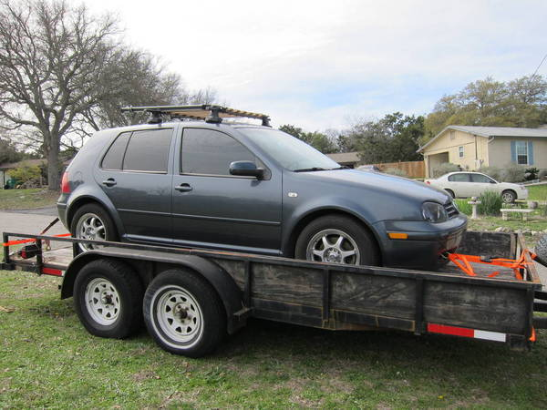 Towing the Golf 1