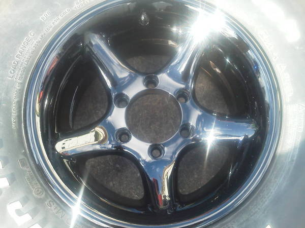 rims and tires done and shine